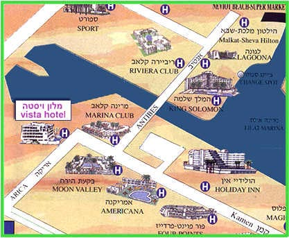 Vista Eilat Boutique Hotel Eilat Hotel Map location